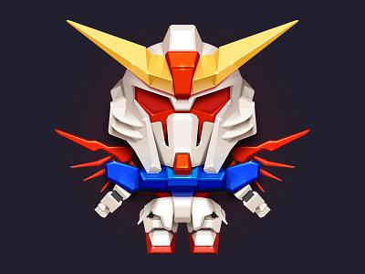 Large-4 toy stereoscopic robot model mg mecha mech makemake gunpla gundam destiny bandai