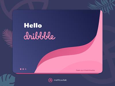 Hello Dribbble sketch first shot flat illustration debut hello