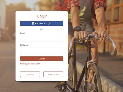 Form login matteo vitale design sign up login form bicycle