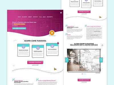 Website selling blueprints blueprints colors photoshop site web landing sketch design webdesign