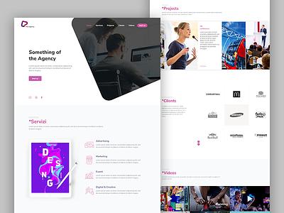 Agency Site Design violet purple webagency web design typography colors ux ui design photoshop sketch