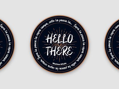 Coaster illustrator vector graphic design drink pub beer coaster