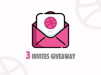 3x Dribbble Invites Giveaway giveaway design mail gift dribbble shot invitation invite