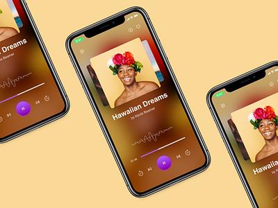 Podcast App Single Audio Track mobile sound single audio track photoshop adobexd sketch design app podcast