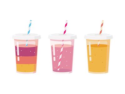 Rainbow Juice Illustration vector rainbow juice design illustration