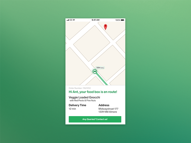 Daily UI #020 - Location Tracker branding clean visual ux product type ui location tracker ios flat app dailyui