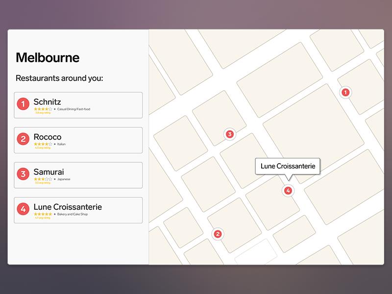 Daily UI #029 - Map ui ux app web product branding type clean flat map dailyui 029