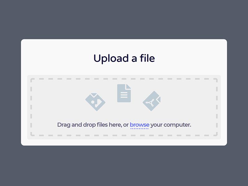 Daily UI #031 - File Upload file upload web branding visual type ux ui product dailyui flat clean 031