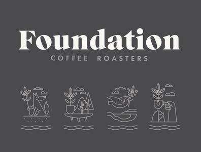 FOUNDATION logo coffee design identity illustrator designer typography branding graphic design illustration