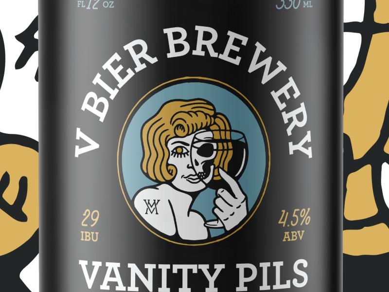 V Bier Brewery identity designer design branding typography artist illustrator graphic design beer branding beer label package design illustration