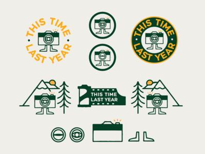 This Time Last Year type illustrator photography identity graphic design typography designer branding logo design illustration