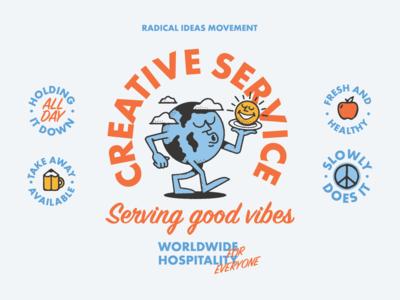 Creative Service type art fun drawing designer graphic design typography artist illustrator illustration