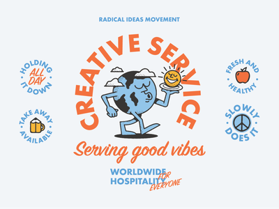 Creative Service type art fun drawing designer graphic design typography artist illustrator illustration