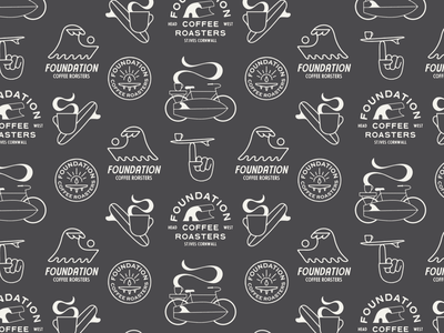 FOUNDATION COFFEE ROASTERS art coffee identity branding typography artist graphic design illustrator design illustration