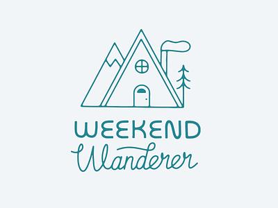 Weekend Wanderer type identity graphic design artist typography outdoor badge outdoor logo outdoor illustration logo illustrator design illustration