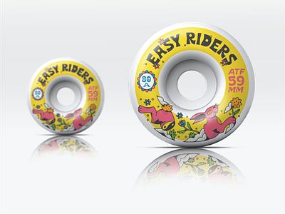 Skate Wheels fun art type designer skateboard typography artist graphic design illustrator design illustration