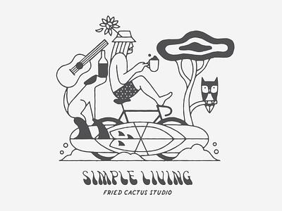 Simple Living simple illustration apparel illustrator art art typography artist drawing illustrator design illustration