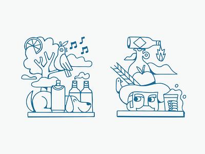 Friday Feels design fun identity graphic design branding art drawing artist illustrator illustration