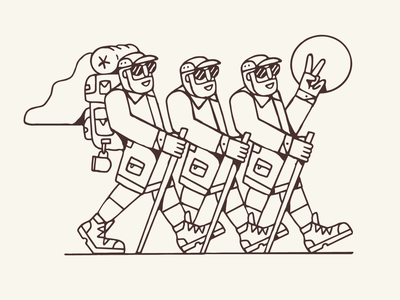 Hikerdelic outdoor drawing graphic design artist illustrator design illustration