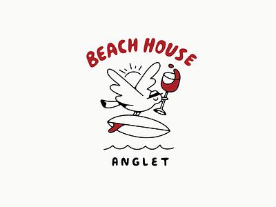 Beach House drawing typography artist graphic design illustrator design illustration