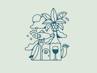 Beach House typography creative draw drawing artist graphic design illustrator design illustration