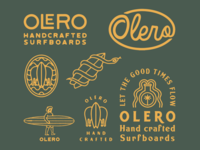 Brand identity for Olero Surfboards