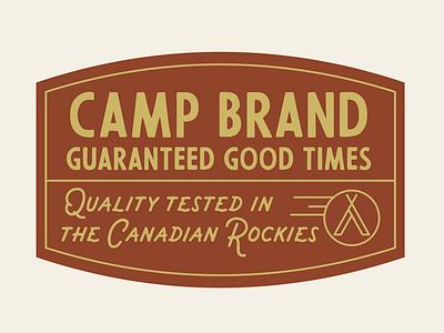 CAMP BRAND GOODS artist clothing label badge illustrator vintage inspired tee design clothing brand design typography type graphic design illustration