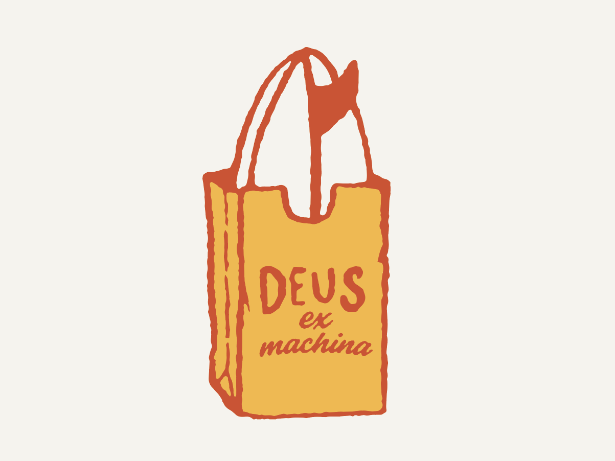 DEUS EX MACHINA clothing label fun artist graphic design typography type drawing illustrator illustration clothing brand surface design surf clothing