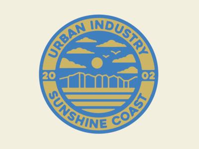 URBAN INDUSTRY surf designer identity typography logo drawing artist illustrator graphic design design illustration