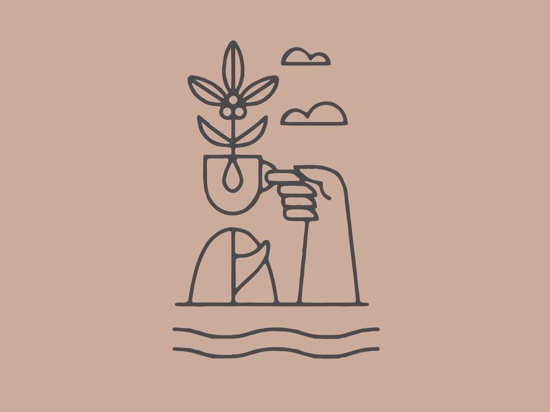 FOUNDATION surf coffee art illustrator artist graphic design branding designer design illustration