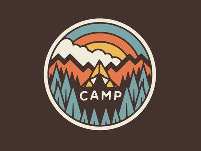 Camp Brand vector artist art fun typography drawing graphic design illustrator design illustration