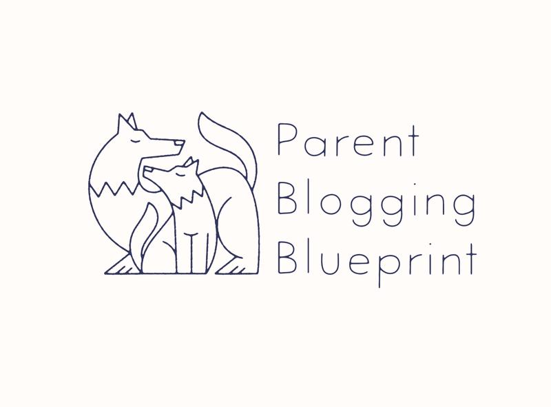 Parent Blogging Blueprint logo identity vector branding designer artist drawing design illustrator illustration