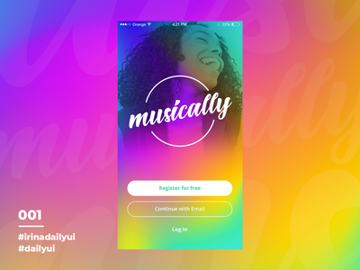 Sign-up for a music app called Musically  I DailyUI001 userinterface 100daychallenge uiuxdesign uxui dailyui