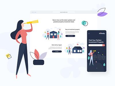 Investly - UI/UX Design illustration userinterface uxui uiux