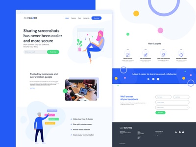 Clipshare Landing Page website concept webdesign website web landingpage landing free freebie