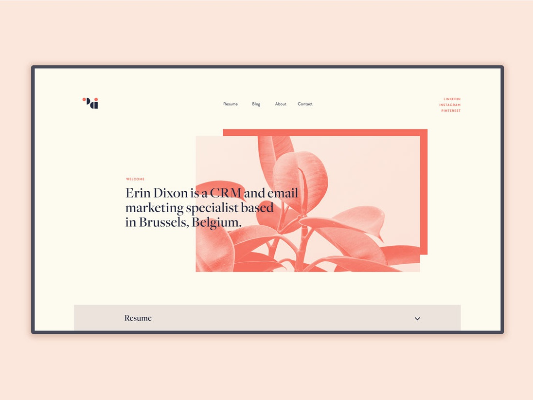 Digital Resume resume onlineresume digital portfolio