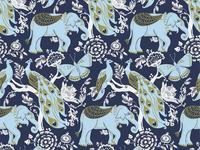Elephant Repeat Pattern