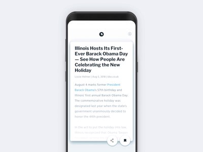 News app microinteractions interaction minimal ux ui app product design
