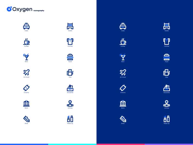 Oxygen bank trivia iconography trivia fintech bank icons minimal web design ui ux product design flat