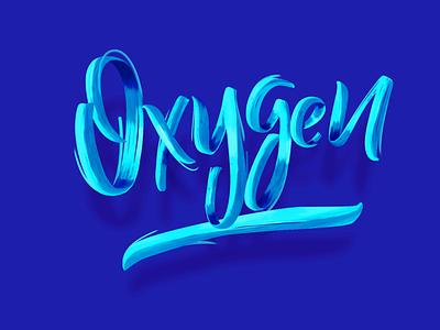 Oxygen lettering art oxygen bank fintech typography branding logo illustration