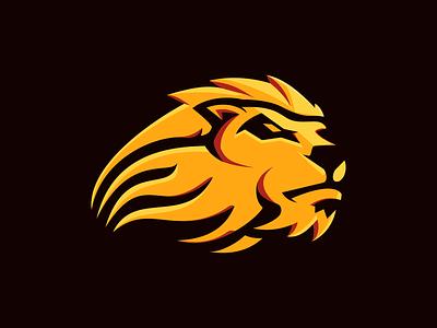 Lowland Lions logo illustration branding gaming vector flat design logo