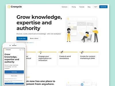 Cronycle website redesign website ui ux app figma flat design web design product design webdesign