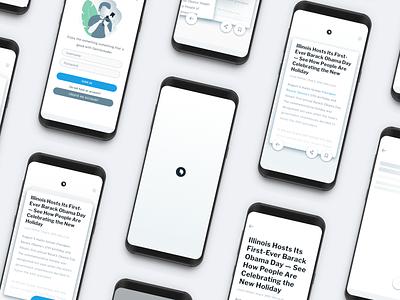 Dipity news app news app illustration design minimal ui ux product design