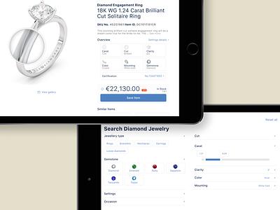 Royal Coster Diamond salesapp ios app design ui ux product design