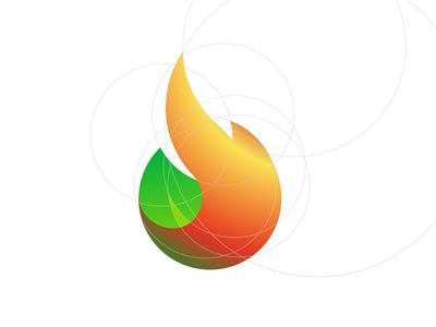 Agon biomass logo flat icon design minimal vector branding logo illustration