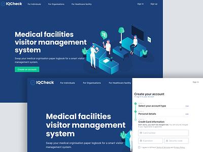 IQCheck landing page ux ui flat minimal web app illustration web design design product design