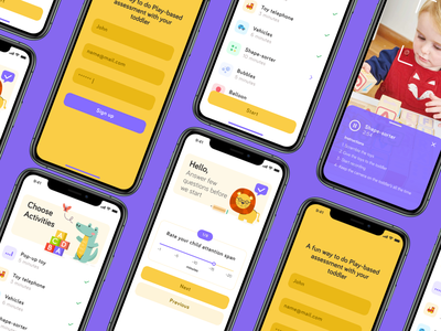 Autism Play based assessment design app autism medical digital health ui ux product design