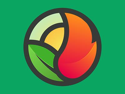 Vulcan bioenergy logo design icon illustration vector logo branding