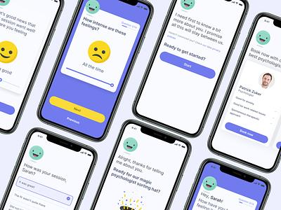 Charli mental health app ai mental health app illustration ui ux mobile product design