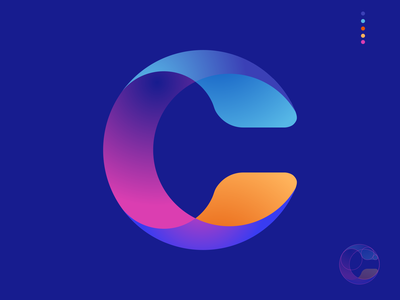 Curve identity minimal logo vector illustration flat branding identity